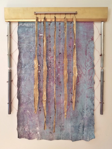 Assemblage art curtain